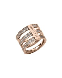 Triple Stack Pave Ring Rose Golden Michael Kors