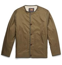 The Workers Club Reversible Faux Shearling And Shell Jacket Army Green