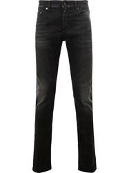 Saint Laurent Low Rise Skinny Jeans Black