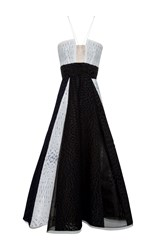 Alex Perry Dalton Sequin Detail Midi Dress Black White