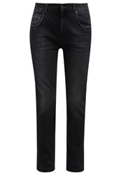 7 For All Mankind Relaxed Fit Jeans Black Smoke Grey Denim