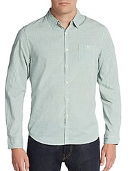 Life After Denim Highrise Gingham Cotton Sportshirt Green