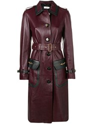 Coach Western Trench Coat Red