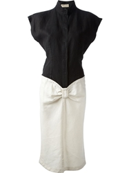 Gianni Versace Vintage Bow Detail Dress Black