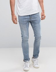 New Look Skinny Jeans In Light Wash Blue Light Blue