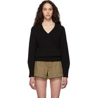 Chloe Black Cashmere Iconic V Neck Sweater