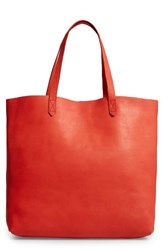 Madewell 'Transport' Leather Tote Red Tiger Lily