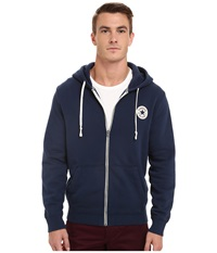 Converse Core Full Zip Hoodie Nighttime Navy Men's Sweatshirt