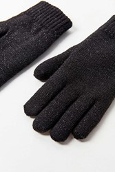 Urban Outfitters Glitter Plush Lined Glove Black