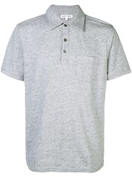 Alex Mill Heather Rugby Polo Shirt Grey