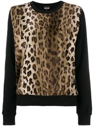Just Cavalli Leopard Print Sweatshirt Black