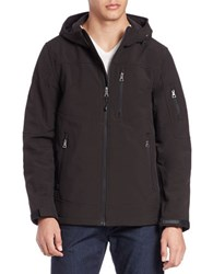Guess Soft Shell Hooded Jacket Black