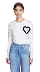 Michaela Buerger Striped Tee With Heart Patch Light Pink