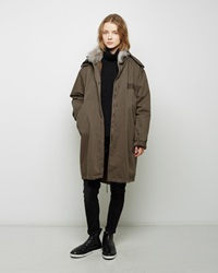 Army By Yves Saloman Coyote Fur Lined Fishtail Parka Natural