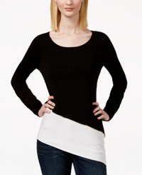Inc International Concepts Asymmetrical Colorblocked Zip Detail Top Only At Macy's