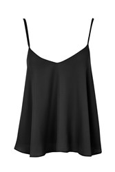 Topshop Rouleau Swing Cami Black
