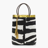 J.Crew Collection Tote In Calf Hair And Leather