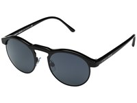 Giorgio Armani 0Ar8090 Black Matte Black Crystal Grey Fashion Sunglasses Blue