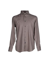 Mazzarelli Shirts Shirts Men Dove Grey