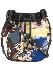 Philosophy Di Lorenzo Serafini Floral Drawstring Bag Women Leather Polyester One Size Black