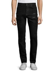 Hudson Broderick Slouchy Skinny Zippered Jeans Untamed