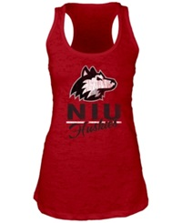 Blue 84 Women's Northern Illinois Huskies Racerback Burnout Tank Top Red