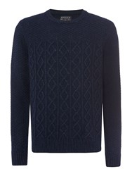 Howick Men's Ferndale Crew Neck Jumper Navy