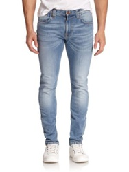 Nudie Jeans Tape Ted Tapered Fit Jeans Indigo Bleach