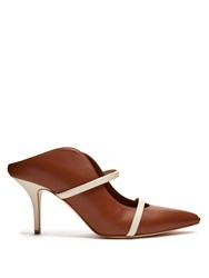 Malone Souliers Maureen Leather Mules Brown White