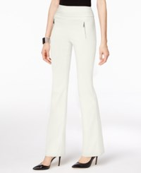 Inc International Concepts Curvy Fit Wide Leg Pants Only At Macy's Washed White