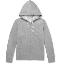 Rag And Bone Loopback Cotton Jersey Zip Up Hoodie Gray