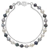 Dower And Hall Orissa Freshwater Pearl Bracelet Silver Multi