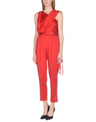 Daniele Carlotta Jumpsuits Red