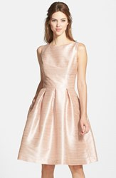 Women's Alfred Sung Dupioni Fit And Flare Dress Pearl Pink