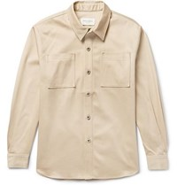 Public School Cotton Twill Shirt Jacket Beige