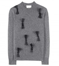 3.1 Phillip Lim Embellished Wool And Cashmere Blend Sweater Grey