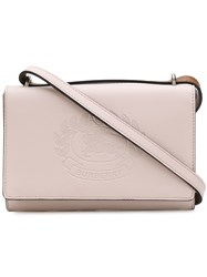 Burberry Embossed Logo Crossbody Bag Pink