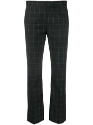 Paul Smith Ps Checked Straight Leg Trousers Black