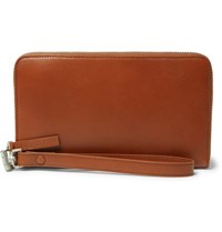 Maison Martin Margiela Leather Travel Wallet Brown