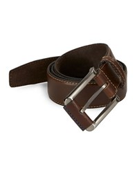 Tallia Orange Leather Square Buckle Belt Brown