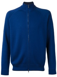 Loro Piana Zip Front Cardigan Blue