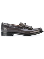 Church's Fringed Loafers Women Calf Leather Patent Leather Rubber 35 Grey