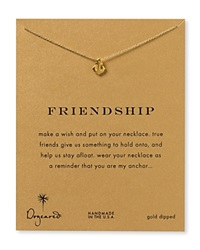 Dogeared Friendship Anchor Necklace 18 Gold
