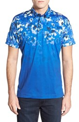 Men's Robert Graham Classic Fit Floral Polo Blue White