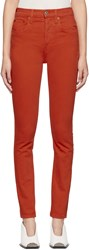 Re Done Red Originals High Rise Jeans