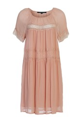 French Connection Rosie Drape Babydoll Dress Pink