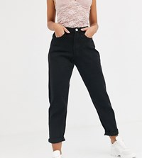 Missguided Petite Riot Mom Jeans In Black