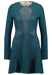 Bcbgmaxazria City Summer Dress Dark Teal Green