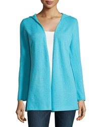 Minnie Rose Cashmere Hooded Duster Cardigan Ocean Drive