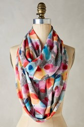 Anthropologie Dreambloom Infinity Scarf Neutral Motif